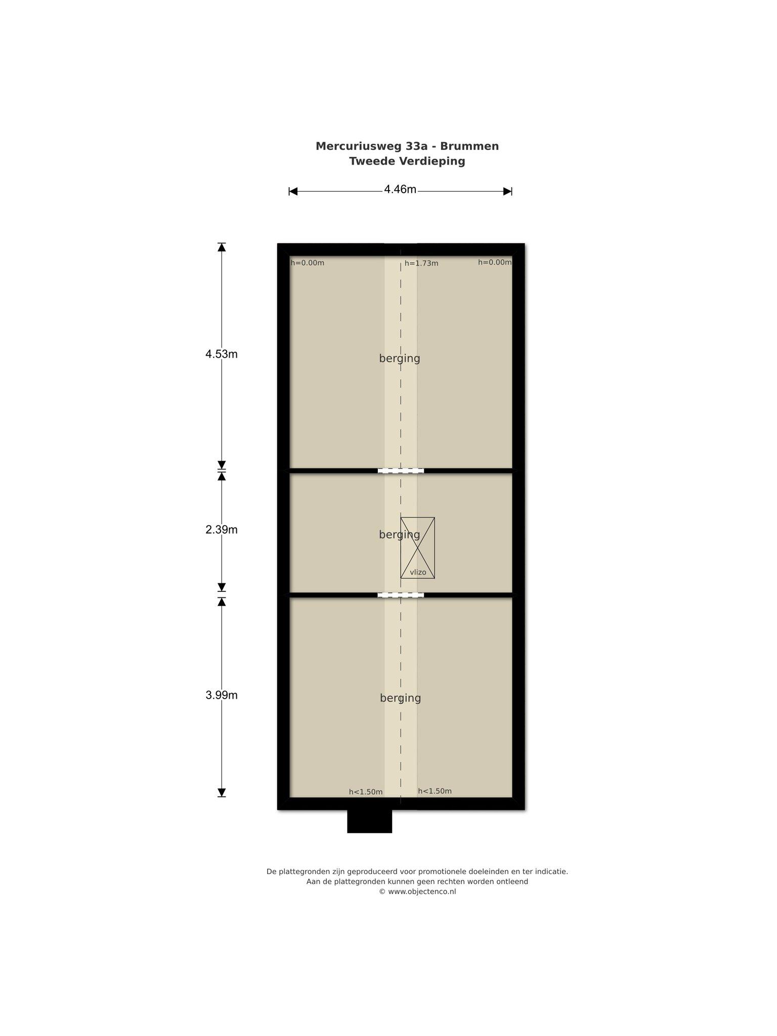 Plattegrond van Mercuriusweg 33a